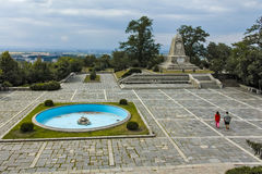 PLOVDIV, BULGARIA JUNE 11, 2017: The monument to Emperor Alexander II at Bunardzhik tepe hill hill of libertadors in city of Plo Stock Photography
