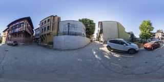 360 degrees panorama of Saint Konstantin and Elena square in Plo Stock Images