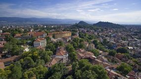 Plovdiv, Bulgaria, 23 October 2018. Aerial view of Plovdiv, Bulgaria, 23 October 2018 stock photo