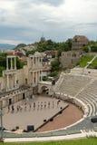 Plovdiv, Bulgaria. Roman theatre royalty free stock photo