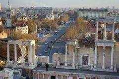 Plovdiv Bulgaria, viejo y nuevo Fotos de archivo