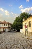 Plovdiv, Bulgaria. View On The Old Town Walk Street Stock Image