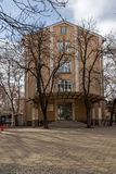PLOVDIV, BULGARIE - 30 DÉCEMBRE 2016 : Bâtiment d'université Paisii Hilendarski de Plovdiv Image stock