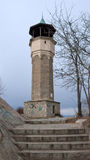 PLOVDIV, BULGARIE - 30 DÉCEMBRE 2016 : Vue étonnante de tour d'horloge dans la ville de Plovdiv Photo stock