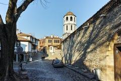PLOVDIV BULGARIEN - JANUARI 2 2017: St Constantine och St Elena kyrktar från perioden av den bulgariska nypremiären i Plovdiv Arkivbild