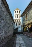 PLOVDIV BULGARIEN - JANUARI 2 2017: St Constantine och St Elena kyrktar från perioden av den bulgariska nypremiären i Plovdiv Fotografering för Bildbyråer