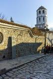 PLOVDIV BULGARIEN - JANUARI 2 2017: St Constantine och St Elena kyrktar från perioden av den bulgariska nypremiären i Plovdiv Royaltyfri Fotografi