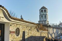 PLOVDIV BULGARIEN - JANUARI 2 2017: St Constantine och St Elena kyrktar från perioden av den bulgariska nypremiären i Plovdiv Royaltyfri Foto