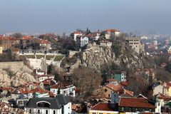 Plovdiv, Bulgarije - de Oude Stad Stock Afbeelding