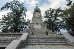 PLOVDIV, BULGARIJE 11 JUNI, 2017: Het monument aan Keizer Alexander II bij de heuvelheuvel van Bunardzhik tepe van libertadors in Stock Fotografie