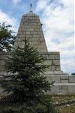 PLOVDIV, BULGARIJE 11 JUNI, 2017: Het monument aan Keizer Alexander II bij de heuvelheuvel van Bunardzhik tepe van libertadors in Stock Afbeeldingen