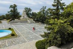 PLOVDIV, BULGARIJE 11 JUNI, 2017: Het monument aan Keizer Alexander II bij de heuvelheuvel van Bunardzhik tepe van libertadors in Stock Foto's