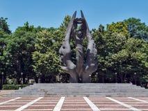 PLOVDIV, BULGARIJE - JUNI 13, 2012: Monument van de Eenmaking van Bulgarije in stad van Plovdiv, Stock Afbeeldingen
