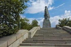 PLOVDIV, BULGARIJE 11 JUNI, 2017: Monument van het SovjetdieLeger als Alyosha in stad van Plovdiv wordt bekend Royalty-vrije Stock Afbeelding