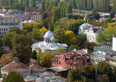 Plovdiv city. View from Plovdiv city, Bulgaria stock images