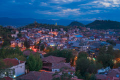 Plovdiv at Dusk Stock Photo