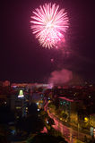 Plovdiv fireworks Stock Images