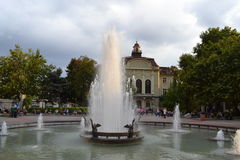 Plovdiv fountain Royalty Free Stock Image