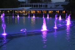 Plovdiv fountains Royalty Free Stock Image