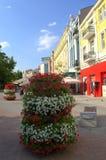 Plovdiv głównej ulicy widok Zdjęcia Stock