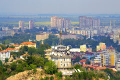 Plovdiv hilltop scenic view Royalty Free Stock Photography