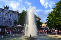 Plovdiv main street fountain Stock Photo