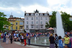 Plovdiv main street fountain Stock Photos