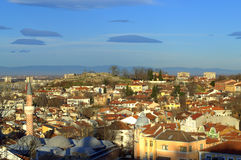 Plovdiv old town view Stock Images