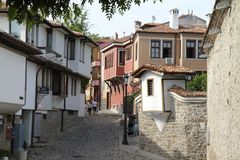 Plovdiv oud kwart stock afbeelding