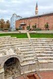 Plovdiv roman stadion och moské royaltyfri bild