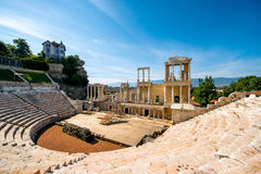 Plovdiv Roman theatre. Roman theatre of Philippopolis in Plovdiv, Bulgaria Royalty Free Stock Photo