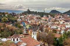 Plovdiv skyline Stock Photos