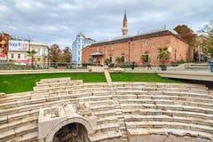 Plovdiv stadioncityscape royaltyfri bild