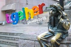Plovdiv tillsammans logo royaltyfri fotografi