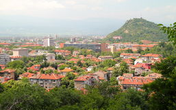 Plovdiv view. Many architecture styles in Plovdiv, Bulgaria royalty free stock photo