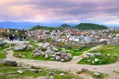Plovdiv widok na zmierzchu zdjęcia royalty free