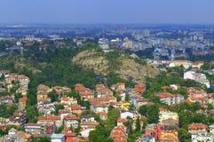 Plovdiv wzgórza Zdjęcia Stock