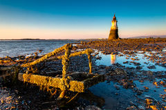 Plover Scar Lighthouse at sunset Royalty Free Stock Image