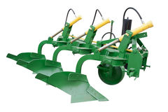 Plow. The image of plow under the white background Stock Image