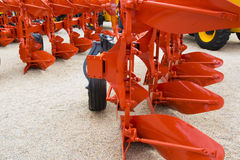 Plow for a Farming Tractor Stock Image