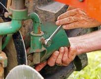 Plow plough adjusting Royalty Free Stock Photo