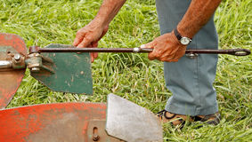 Plow plough adjustments Stock Photos