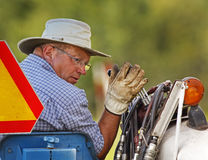 Plow plough competitor hydraulics Stock Image