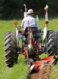 Plow plough plot start Royalty Free Stock Photography