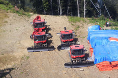 Plow snow removal equipment in the mountains. Of Krasnaya Polyana Stock Image