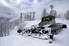 Plow snow removal equipment in the mountains of Stock Images