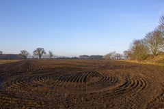 Plow soil patterns Royalty Free Stock Photography