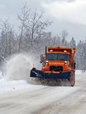 Plow Truck Coming Stock Images