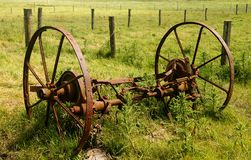 Plow Wheels Stock Images