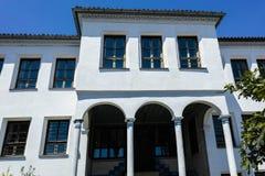 PLOWDIW, BULGARIEN - 10. JUNI 2017: Haus vom Zeitraum der bulgarischen Wiederbelebung in der alten Stadt von Plowdiw Lizenzfreies Stockfoto